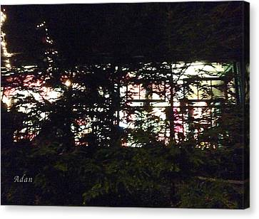 Canvas Print featuring the photograph Lit Like Stained Glass by Felipe Adan Lerma