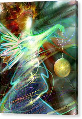 Lite Brought Forth By The Archkeeper Canvas Print by Stephen Lucas
