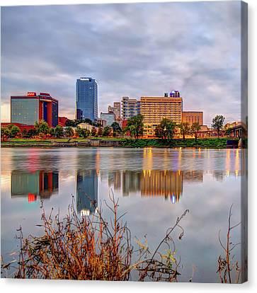 Litle Rock Arkansas Skyline - Square Canvas Print