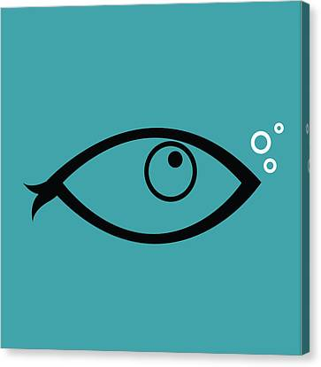 Little Fish In The Ocean Canvas Print