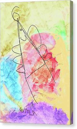 Littla - The Little Angel Canvas Print by Nikolyn McDonald