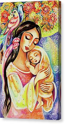 Canvas Print featuring the painting Little Angel Dreaming by Eva Campbell