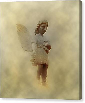 Little Angel In The Clouds Canvas Print by Bill Cannon
