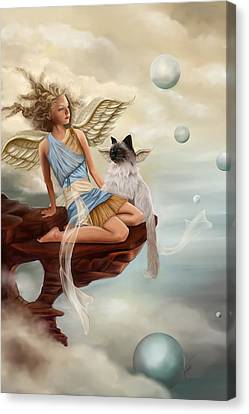 Sphere Canvas Print - Little Angel by Maggie Terlecki