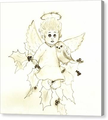Little Angel Canvas Print by Sonya Chalmers