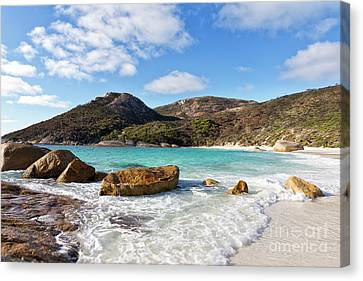 Canvas Print featuring the photograph Little Beach Two Peoples Bay Nature Reserve by Ivy Ho