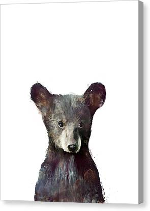 Fauna Canvas Print - Little Bear by Amy Hamilton