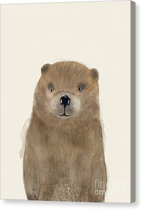 Canvas Print featuring the painting Little Beaver by Bri B