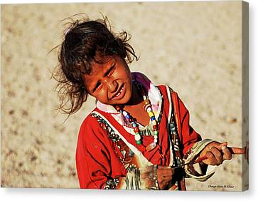 Little Bedouin Girl Canvas Print by Chaza Abou El Khair