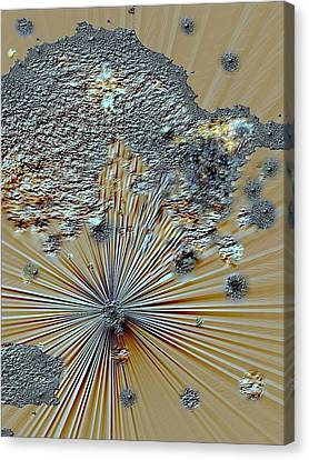 Canvas Print featuring the digital art little Big Bang by Sherri  Of Palm Springs