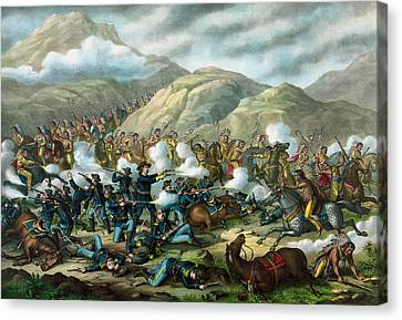 Little Bighorn - Custer's Last Stand Canvas Print by War Is Hell Store