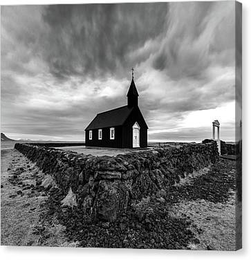 Little Black Church 2 Canvas Print
