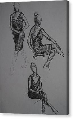 Little Black Dress X Three Canvas Print by Chris  Riley