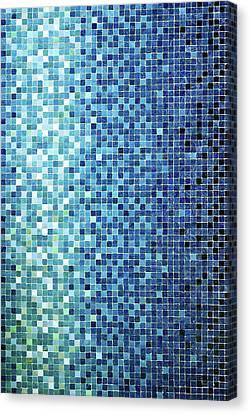Little Blue Tiles Canvas Print