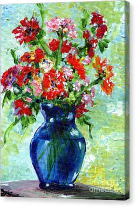 Little Blue Vase Canvas Print by Ginette Callaway