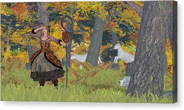 Little Bo Peep Canvas Print by Denice Thomson