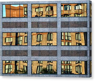 Distortion Canvas Print - Little Boxes by Anne Worner