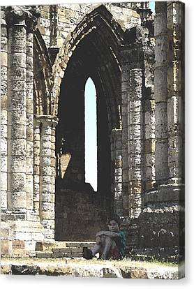 Little Boy Under The Arch Canvas Print