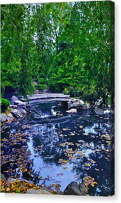 Little Bridge - Japanese Garden Canvas Print by Bill Cannon