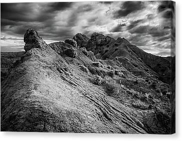 Little Broken Hill In B/w Canvas Print by Joseph Smith