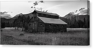 Log Cabin Art Canvas Print - Little Buckaroo Homestead by Expressive Landscapes Fine Art Photography by Thom