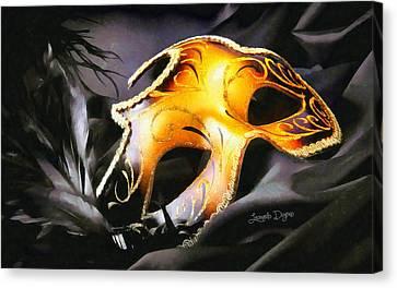 Little Carnival Mask - Da Canvas Print by Leonardo Digenio