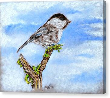 Little Chickadee Canvas Print by Elizabeth Cox