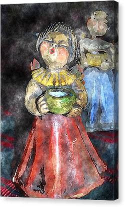 Little Christmas Angel-abstract Canvas Print by Patricia Motley
