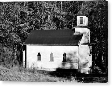 Cabin Wall Canvas Print - Little Church  by Chastity Hoff