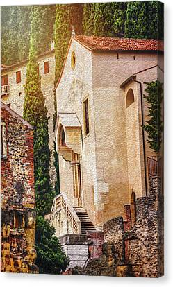 Christian Canvas Print - Little Church In Verona Italy  by Carol Japp