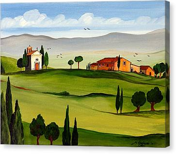 Canvas Print featuring the painting Little Church by Roberto Gagliardi