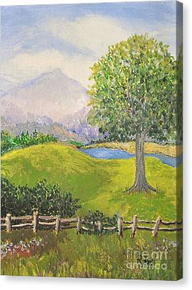 Little Country Scene Too Canvas Print by Reb Frost