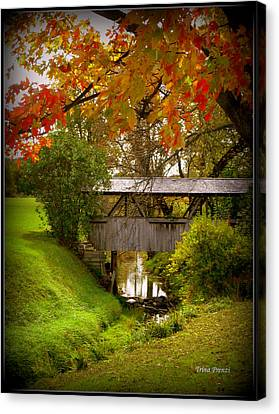 Little Covered Bridge Canvas Print by Trina Prenzi