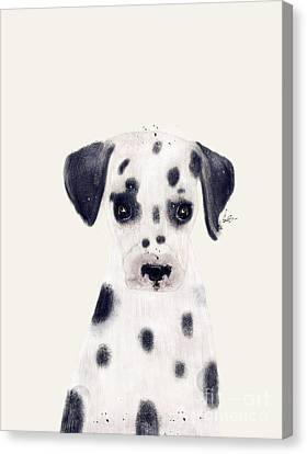 Canvas Print featuring the painting Little Dalmatian by Bri B