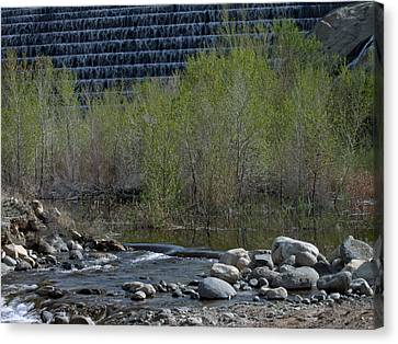 Canvas Print featuring the photograph Little Dam by Ivete Basso Photography