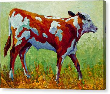 Bovine Canvas Print - Little Dickens by Marion Rose