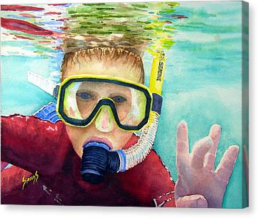 Little Diver Canvas Print by Sam Sidders
