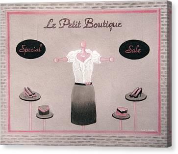Little Dress Shop Canvas Print by Nicole I Hamilton