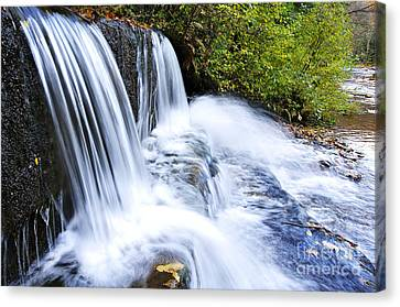 Little Elbow Waterfall And Williams River Canvas Print by Thomas R Fletcher