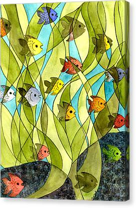 Little Fish Big Pond Canvas Print by Catherine G McElroy