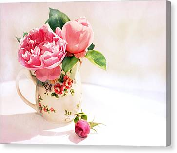 Little Flowered Jug Canvas Print