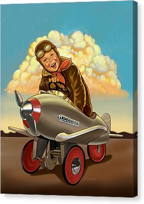 Little Flyer Canvas Print by Valer Ian