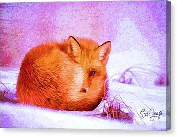 Little Fox #1 Canvas Print by Eva Sawyer