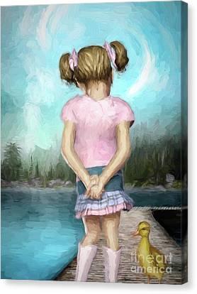 Ducklings Canvas Print - Little Friends by Autumn Moon