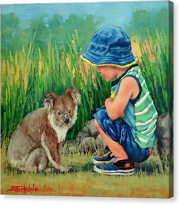Little Friends Canvas Print by Margaret Stockdale