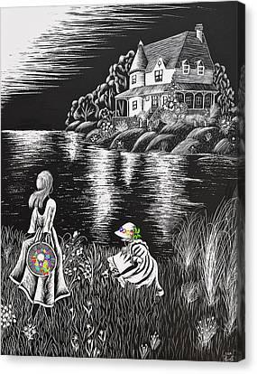 Little Girls Canvas Print by Svetlana Sewell