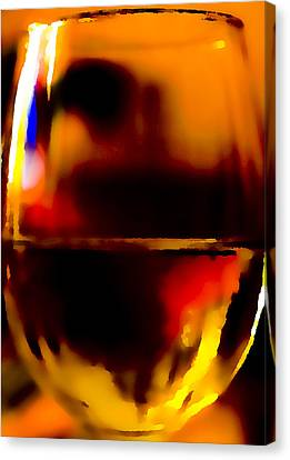 Little Glass Of Wine Canvas Print by Stephen Anderson