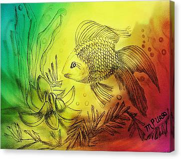 Little Goldfish Canvas Print