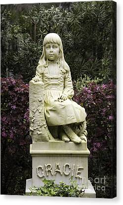Little Gracie Bonaventure Cemetery Canvas Print by Jeannette Hunt