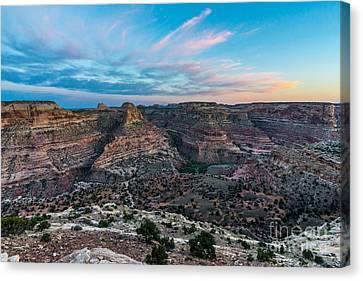 San Rafael Swell Canvas Print - Little Grand Canyon Sunset - Wedge Overlook - Utah by Gary Whitton